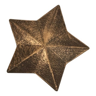 Gold Covered Five Point Star Box