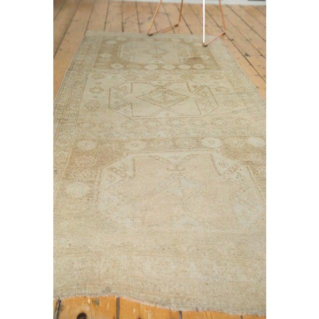 "Vintage Distressed Oushak Rug Runner - 3'7"" x 8'3"" - Image 10 of 10"