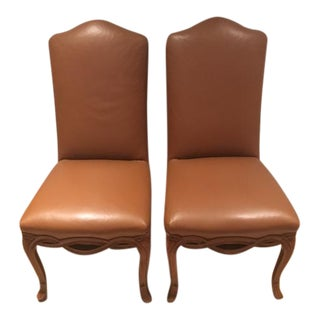 "Leather Fremarc ""Ribbon"" Chairs - A Pair"
