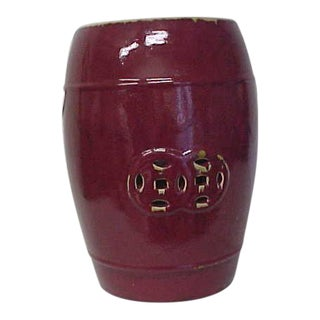 Oxblood Ceramic Garden Stool