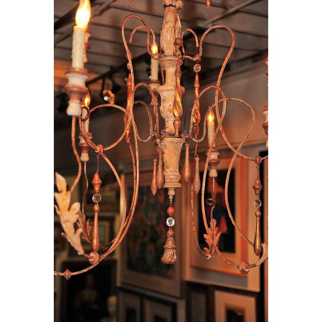 Lovely 18th century Italian Spider Chandelier w/carved parts - 8 ...
