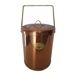 Vintage Coppertone Tall Ice Bucket