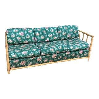 Bamboo Chintz Green Upholstered Sleeper Sofa