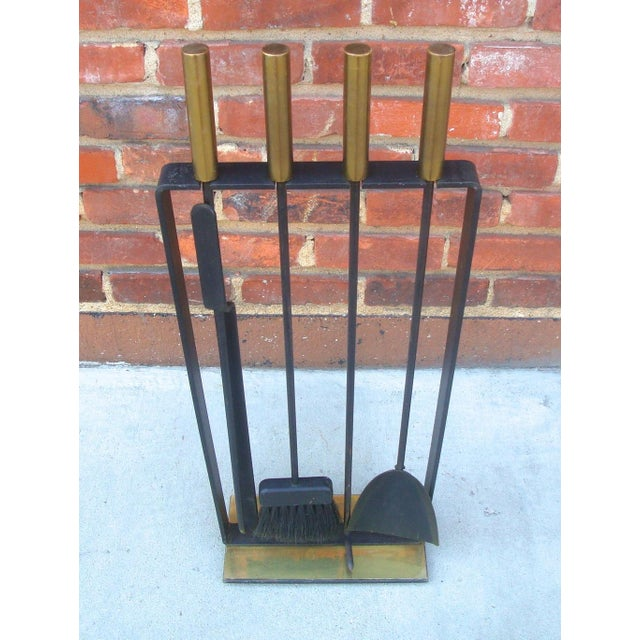 Modernist Fireplace Tool Set & Stand - Set of 5 - Image 3 of 7