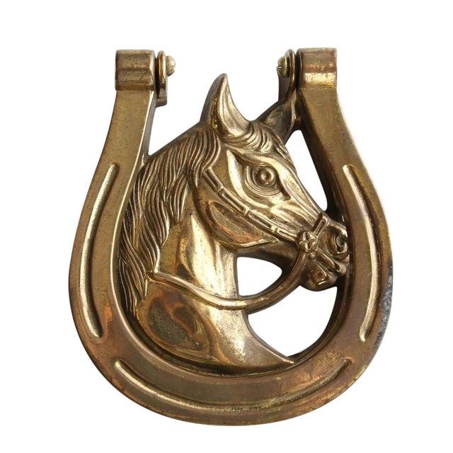 Brass Horseshoe Door Knocker Chairish