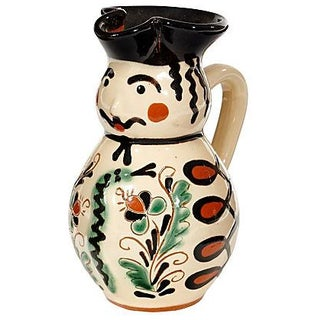 Hand-Painted Ceramic Milk Jug
