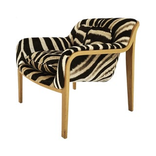 Bill Stephens for Knoll Lounge Chair in Zebra Hide