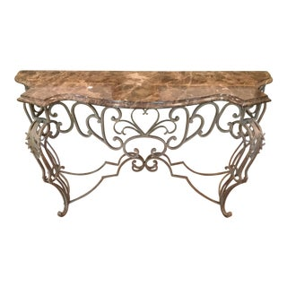 Vintage Marble Top Console
