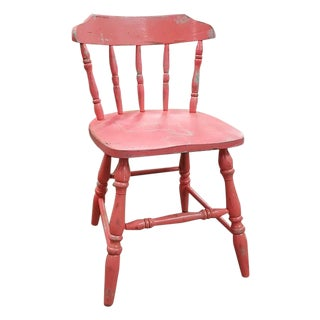 Shabby Chic Coral Accent Chair