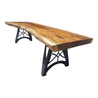 Solid Slab Acacia Wood Live Edge Dining Table
