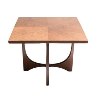 Broyhill Brasilia Sculptural Walnut Side Table