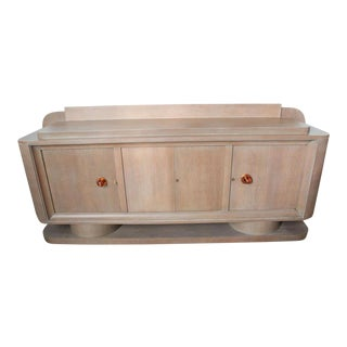 French Limed Oak Sideboard, Manner of Adnet