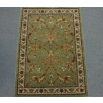 Image of Persian Traditional Green Rug - 8′ × 11′