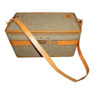 Vintage Tweed & Leather Hartman Luggage Train Case