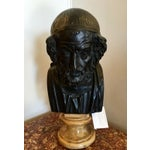 Image of Antique Bronze Philosopher Bust