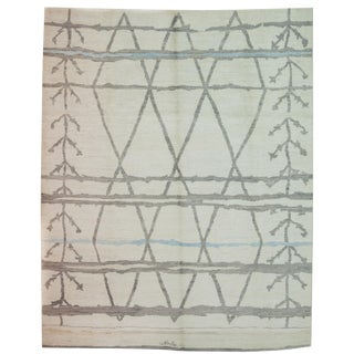 """Morocccan Hand-Knotted Rug - 7' 9"""" x 9' 8"""""""