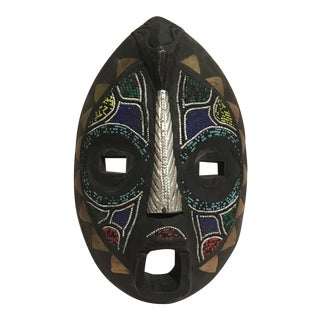 Beaded Mask Wall Art