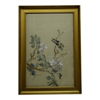 """""""Song Birds"""" Embroidery on Silk"""