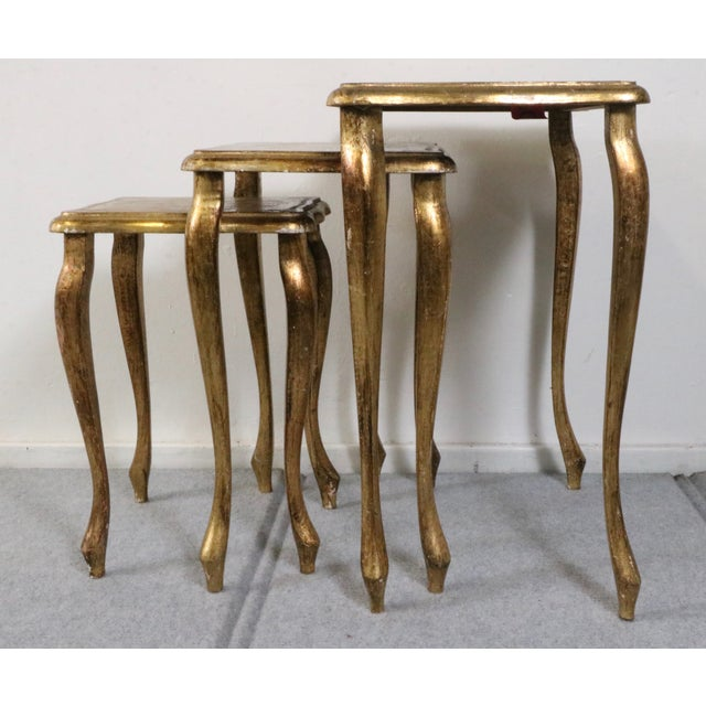 Italian Florentine Nesting Tables – Set of 3 - Image 6 of 7