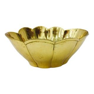 Vintage Mid-Century Brass Bowl