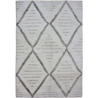 Hand Knotted Bamboo Rug - 5' x 7'