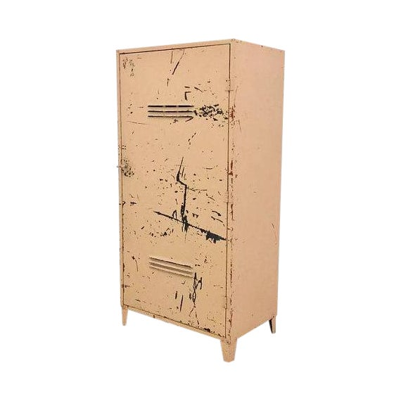 Vintage Industrial Steel Storage Cabinet - Image 1 of 6