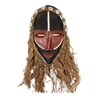 Dan People of Liberia Red and Black Mask