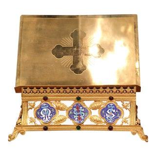 Brass & Cloisonne Bible Holder