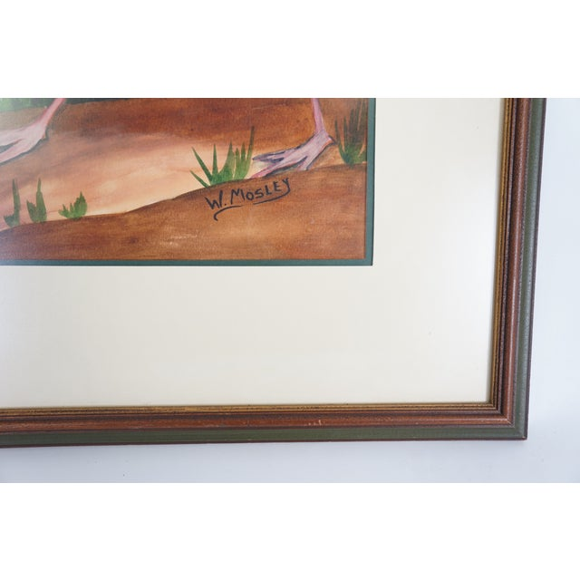 Image of Water Color Flamingo Painting