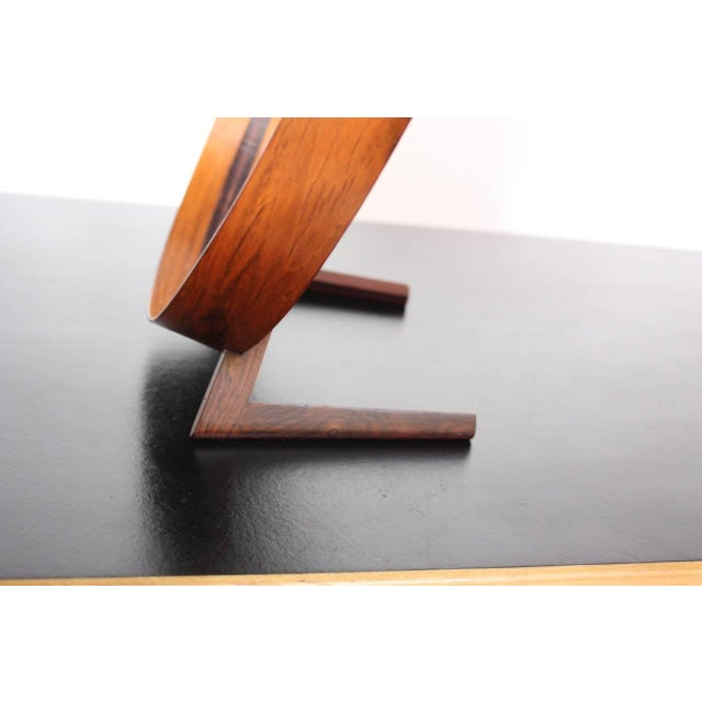 Swedish Rosewood Table Mirror by Uno and Östen Kristiansson for Luxus - Image 2 of 9