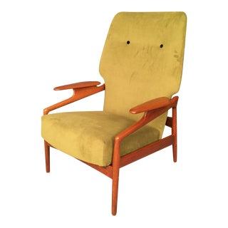 Mid-Century Danish Finn Juhl Style Reclining Lounge Chair