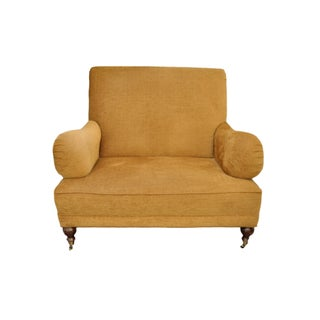 Oversize Chenille Club Chair & a Half