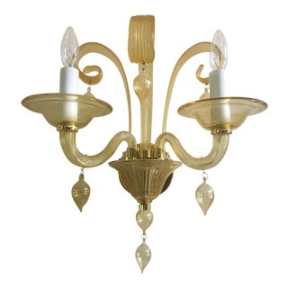 Cyan Design Treviso Amber Murano 2 Light Sconce