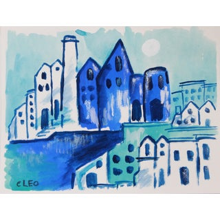 Mediterranean Village Painting by Cleo