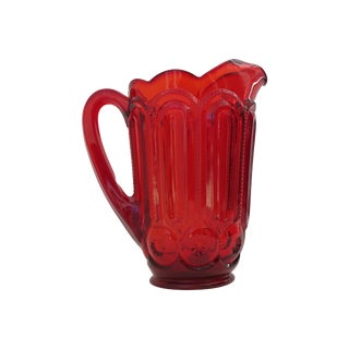 Moon & Stars Ruby Red Pitcher