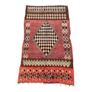 """Vintage Moroccan Boujad Rug - 4'9"""" x 8'2"""""""