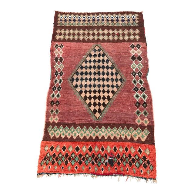 "Vintage Moroccan Boujad Rug - 4'9"" x 8'2"" - Image 1 of 7"