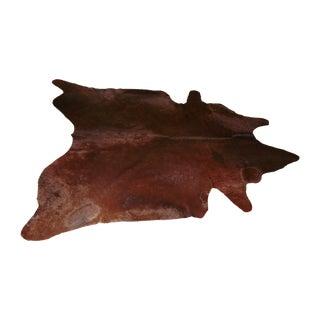 Large Chocolate Brown Cowhide Rug - 7′7″ × 8′10″