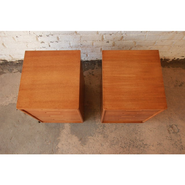 Edward Wormley for Dunbar Mid-Century Nightstands - a Pair - Image 6 of 11