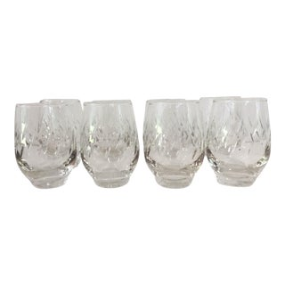 Mid-Century Fine Cut Bar Glasses - Set of 8