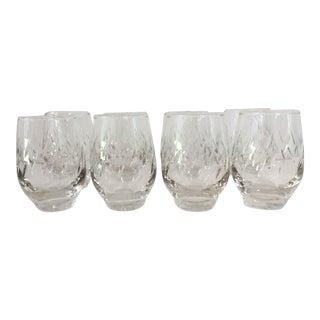 Mid-Century Fine Cut Bar Glasses - Set of 8
