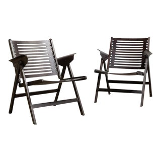 "Niko Kralj ""Rex"" Folding Chairs - A Pair"