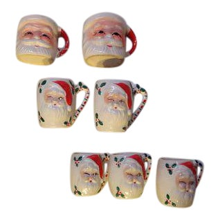 Santa Claus Christmas Cups - Set of 7