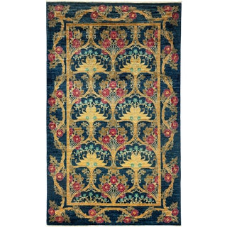 Arts & Crafts Hand Knotted Area Rug - 5' X 8'