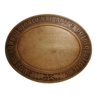 French Wood Bread Platter