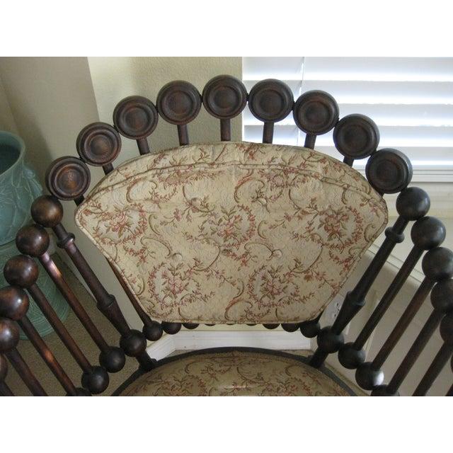 1870 Hunzinger Lolipop Chair With Original Fabric Chairish