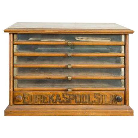 Antique Victorian Eureka Silk Spool Cabinet - Image 1 of 8