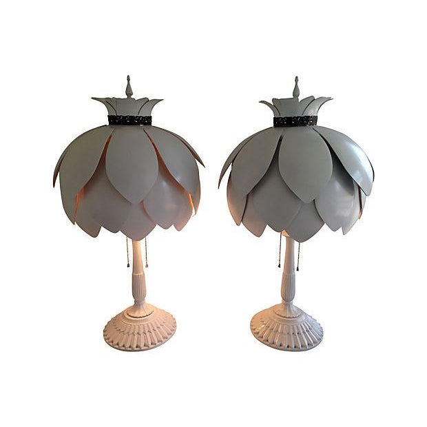 Mid-Century Artichoke Lamps - A Pair - Image 3 of 7