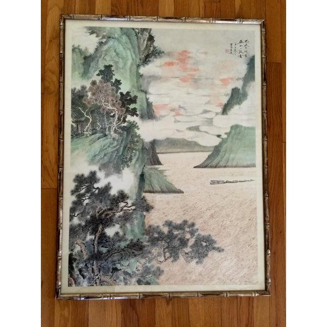 Vintage Asian Seaside Painting - Image 2 of 11