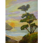 Image of Sunset in Monterrey, CA Plein Air Painting